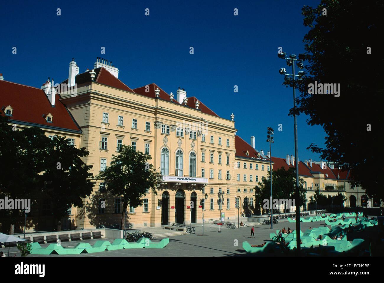 Austria, Vienna, Museum Quartier - Stock Image