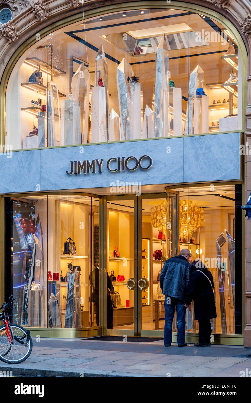 a279af2c1ed The Jimmy Choo Store In New Bond Street, London, England Stock Photo ...