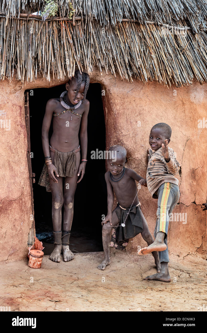 Himba boys - Stock Image