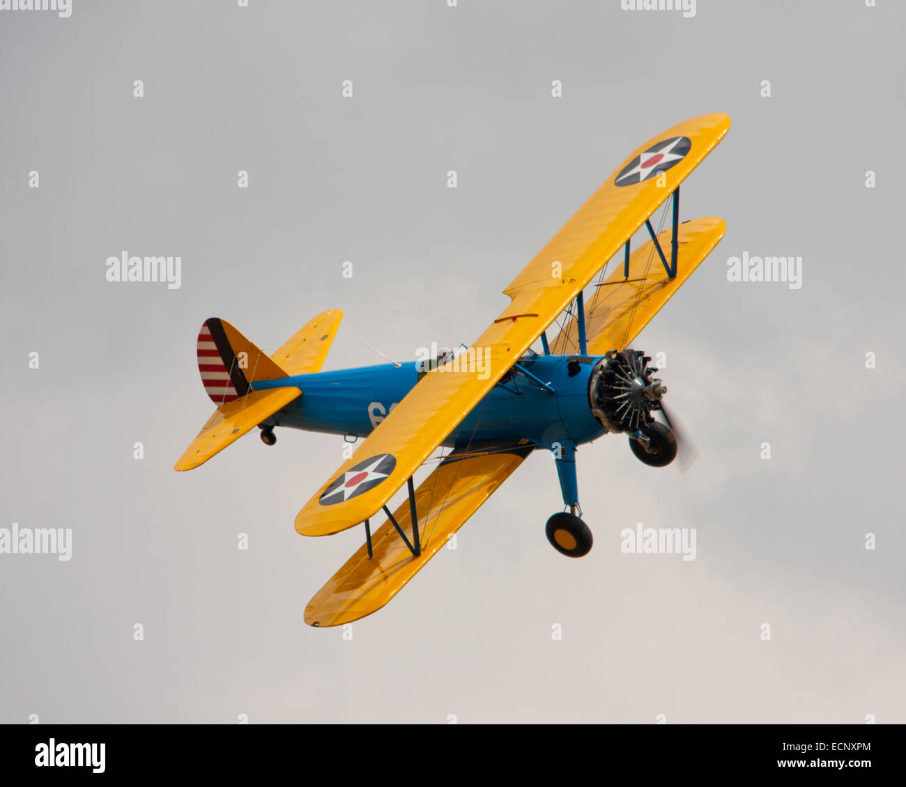 US Army Boeing Stearman Biplane 699 - Stock Image