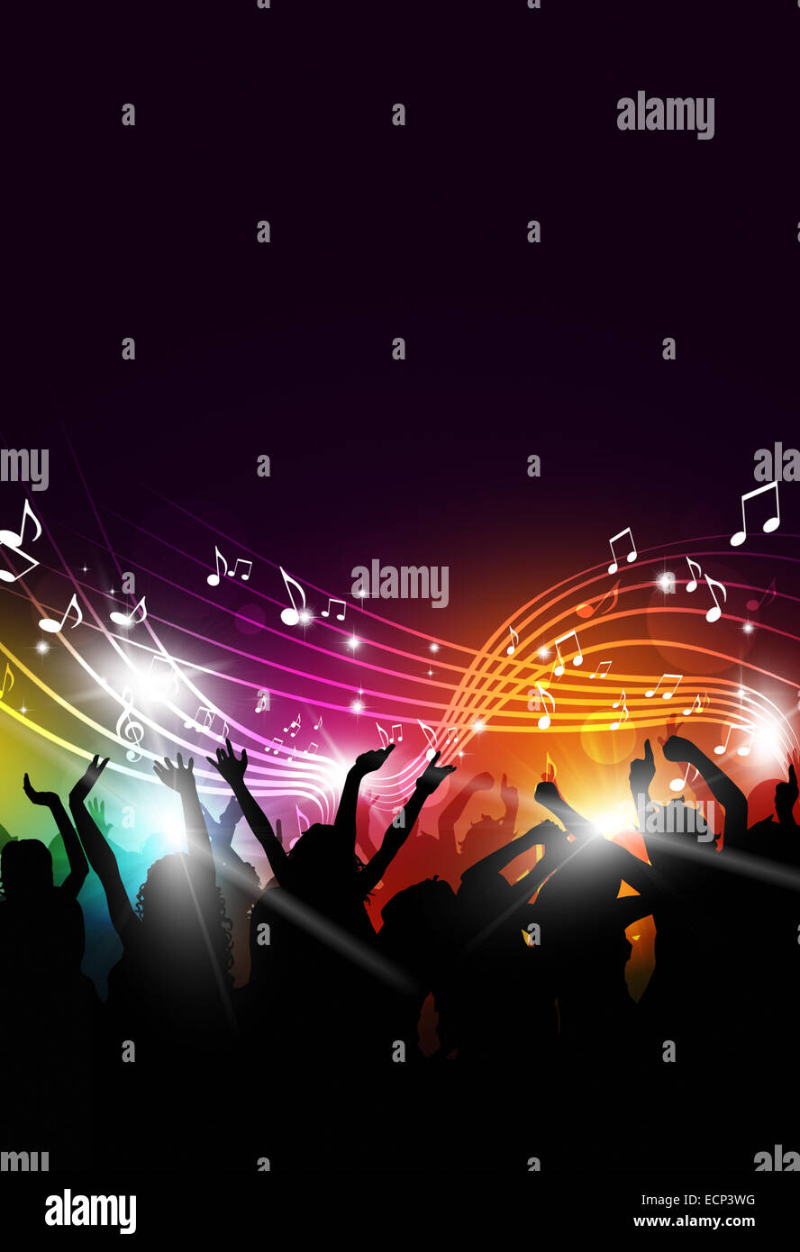 abstract party music background for flyers and night club posters