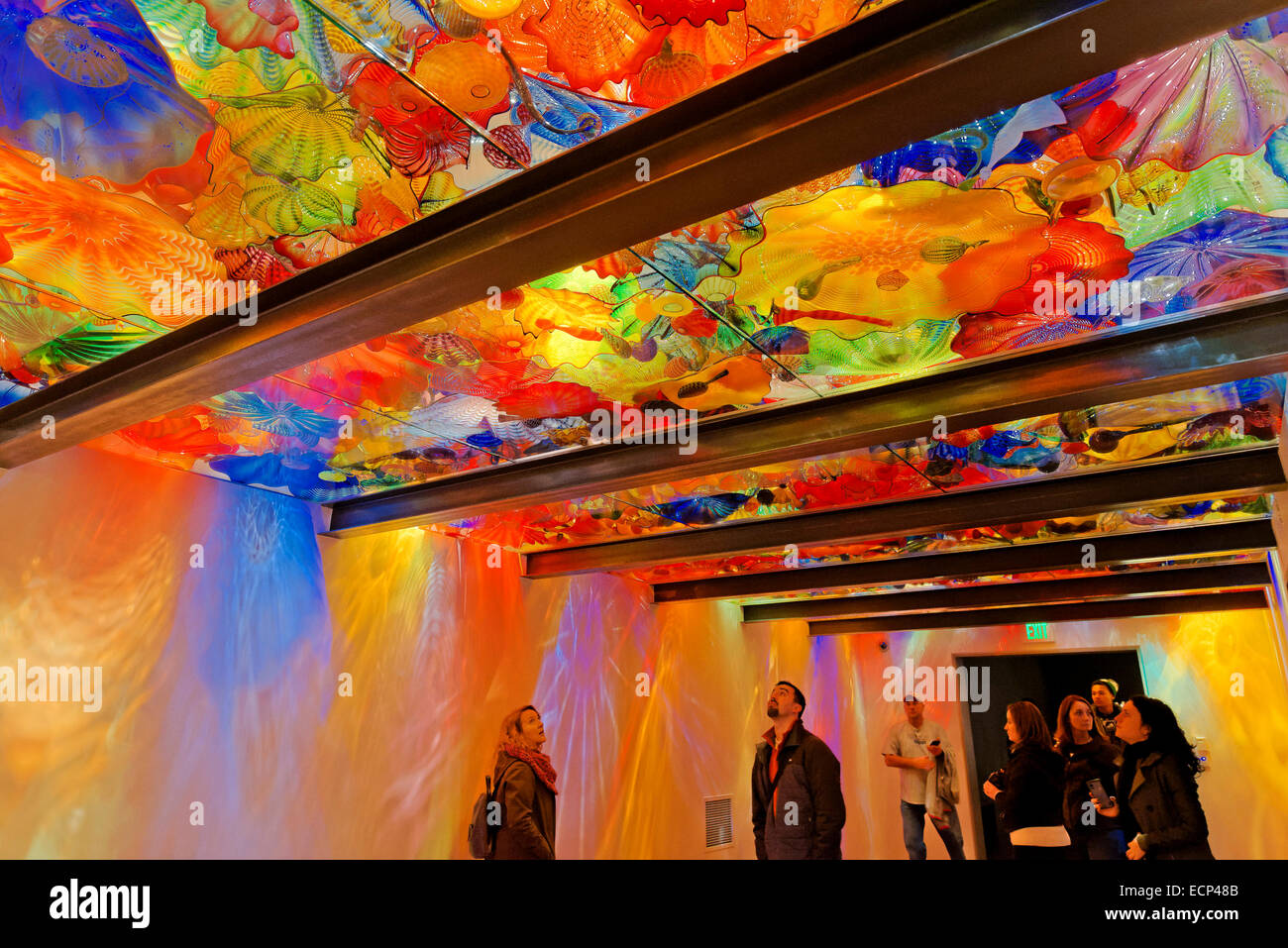 Persian Ceiling room, Chihuly Garden and Glass, Seattle, Washington State, USA - Stock Image