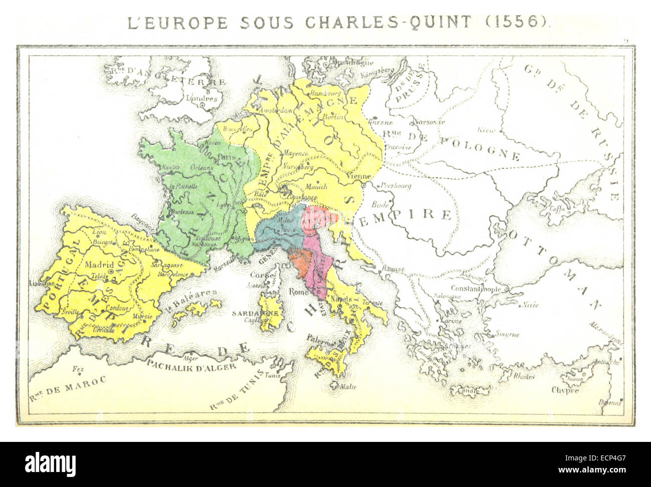 Carte Europe Charles Quint.Vintage Map Europe Cut Out Stock Images Pictures Alamy