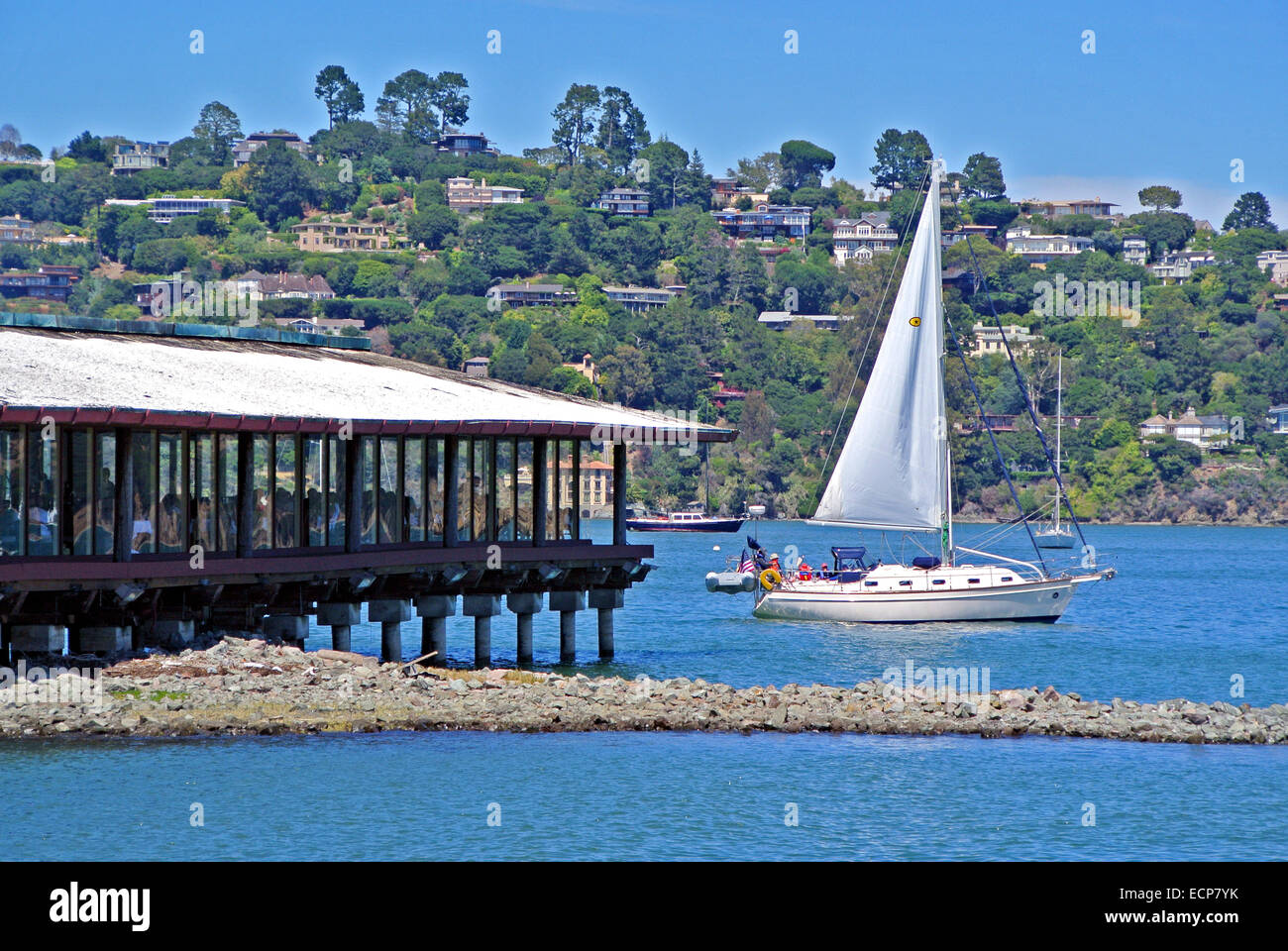 View Of A Waterfront Restaurant On San Francisco Bay In