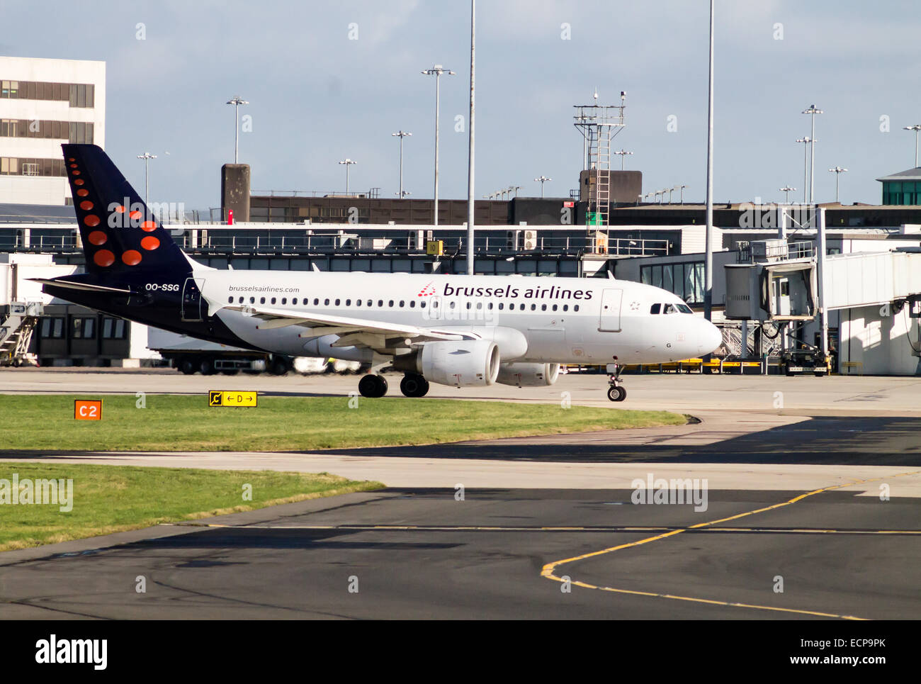 Airlines Departure Manchester Stock Photos & Airlines