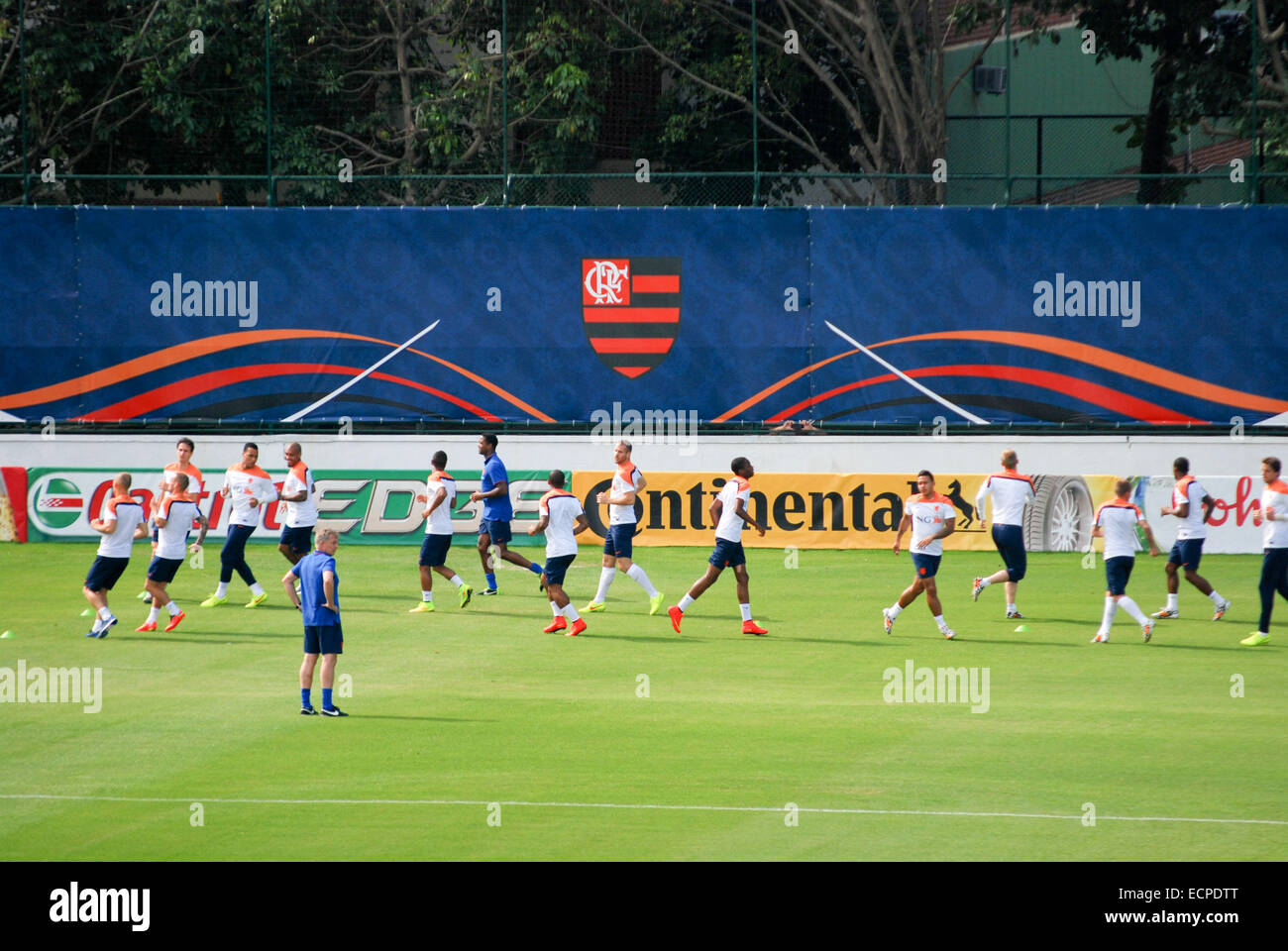 0c28de422 The Netherlands national football team holds a training practice at the  Regata Club of Flamengo