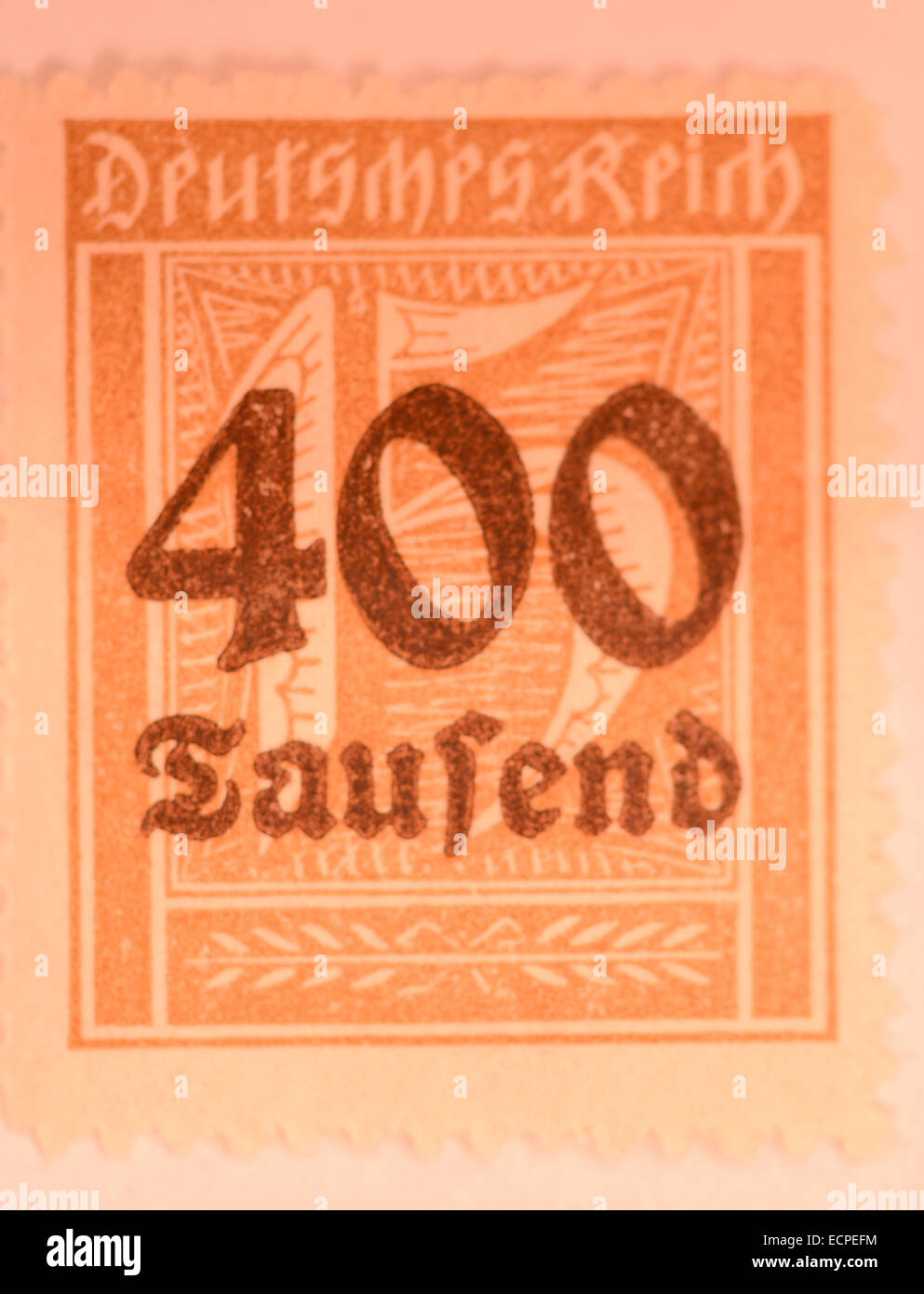 old german inflation stamps - Stock Image