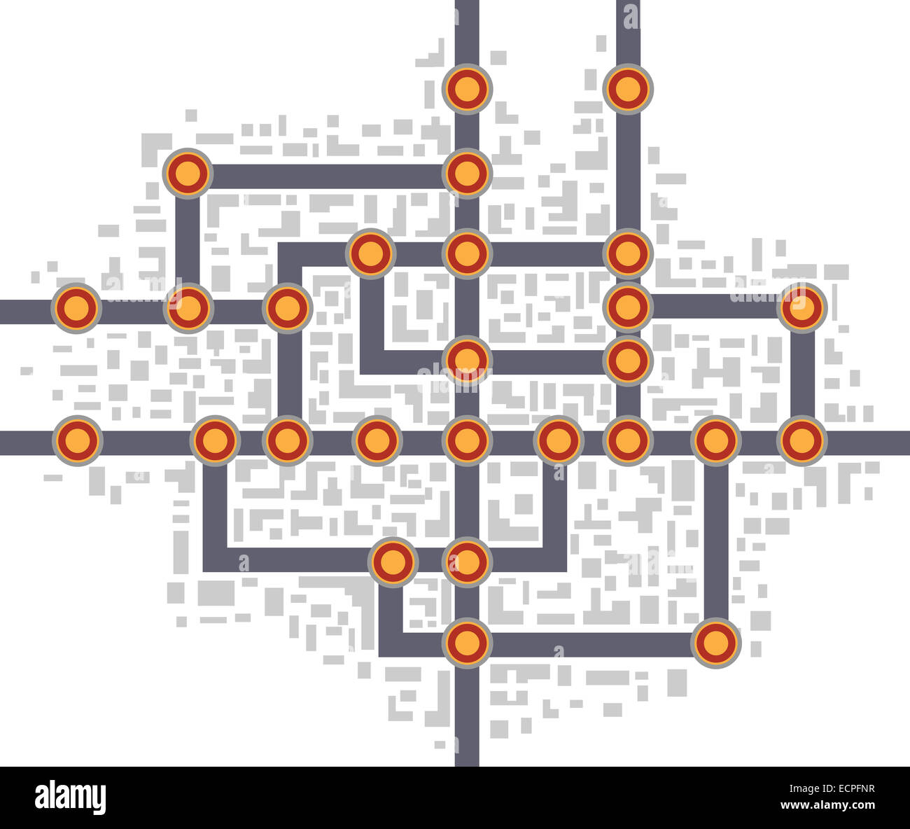 Subway Diagram Stock Photos Images Alamy Wiring Schematic Colorful Abstract Map Image