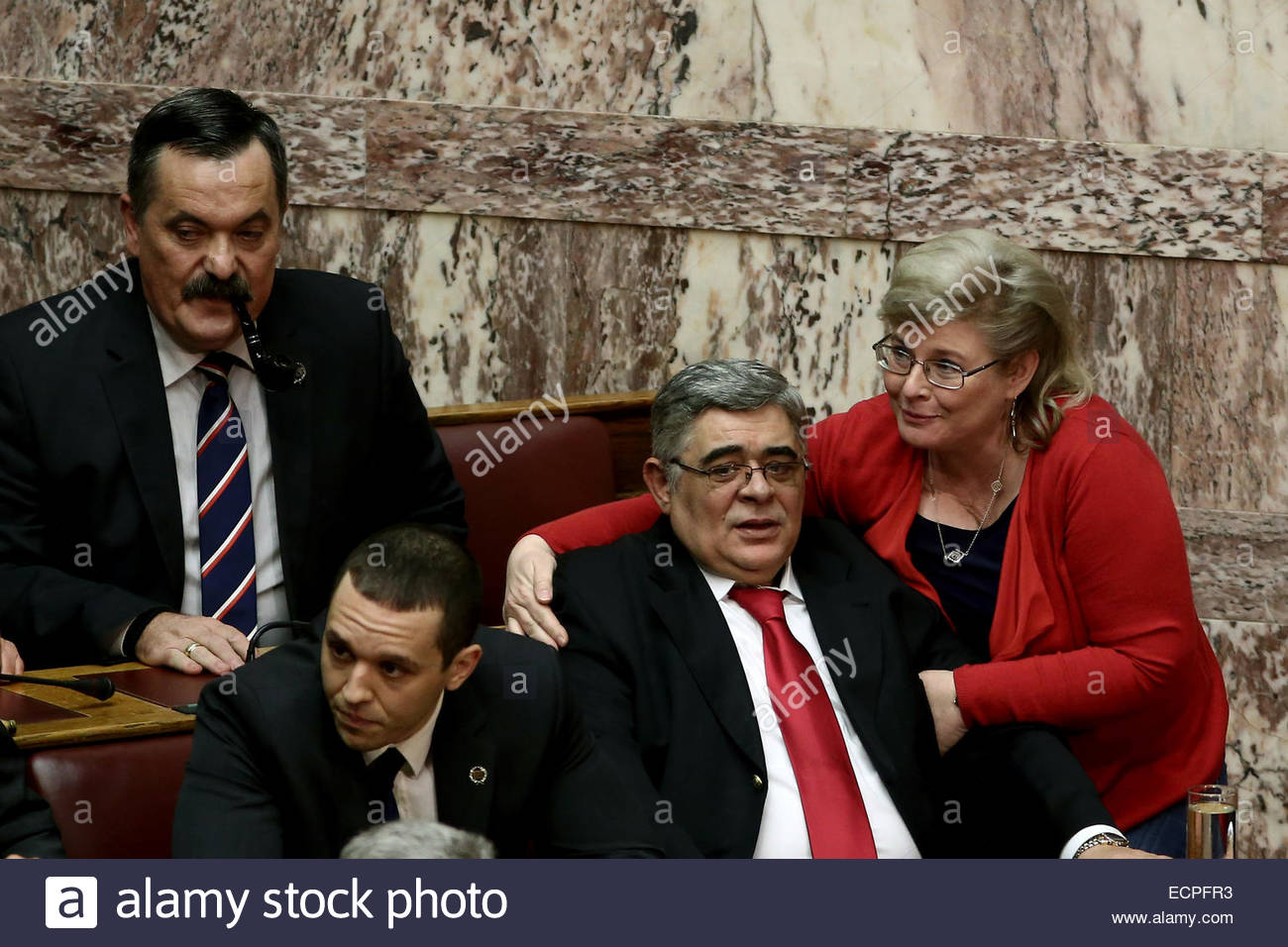 Athens, Greece. 17th Dec, 2014. First presidential ballot, at the Greek Parliament Parliament, in Athens on Wednesday - Stock Image