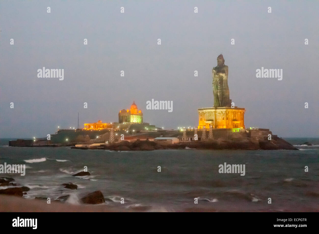 Kanyakumari, formerly known as Cape Comorin, is a town in Kanyakumari District in the state of Tamil Nadu in India. - Stock Image