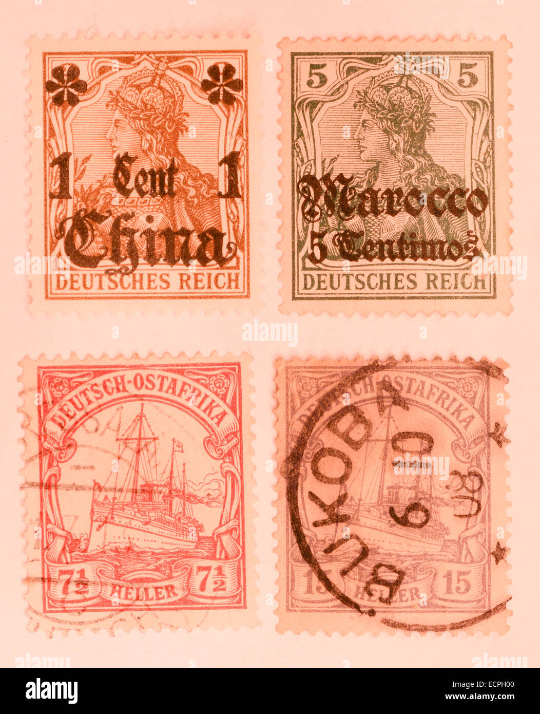 german stamps from second world war - Stock Image