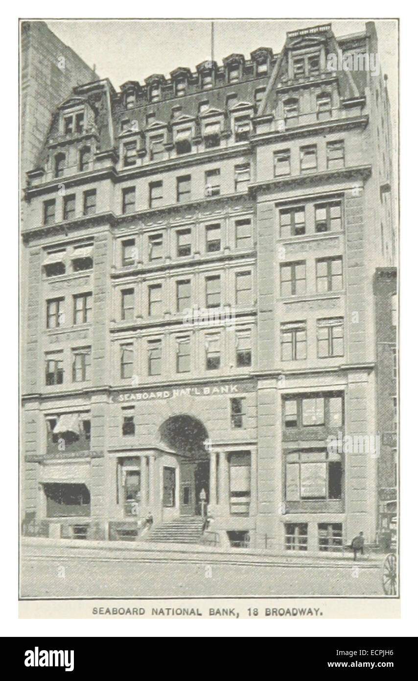 (King1893NYC) pg747 SEABOARD NATIONAL BANK, 18 BROADWAY - Stock Image