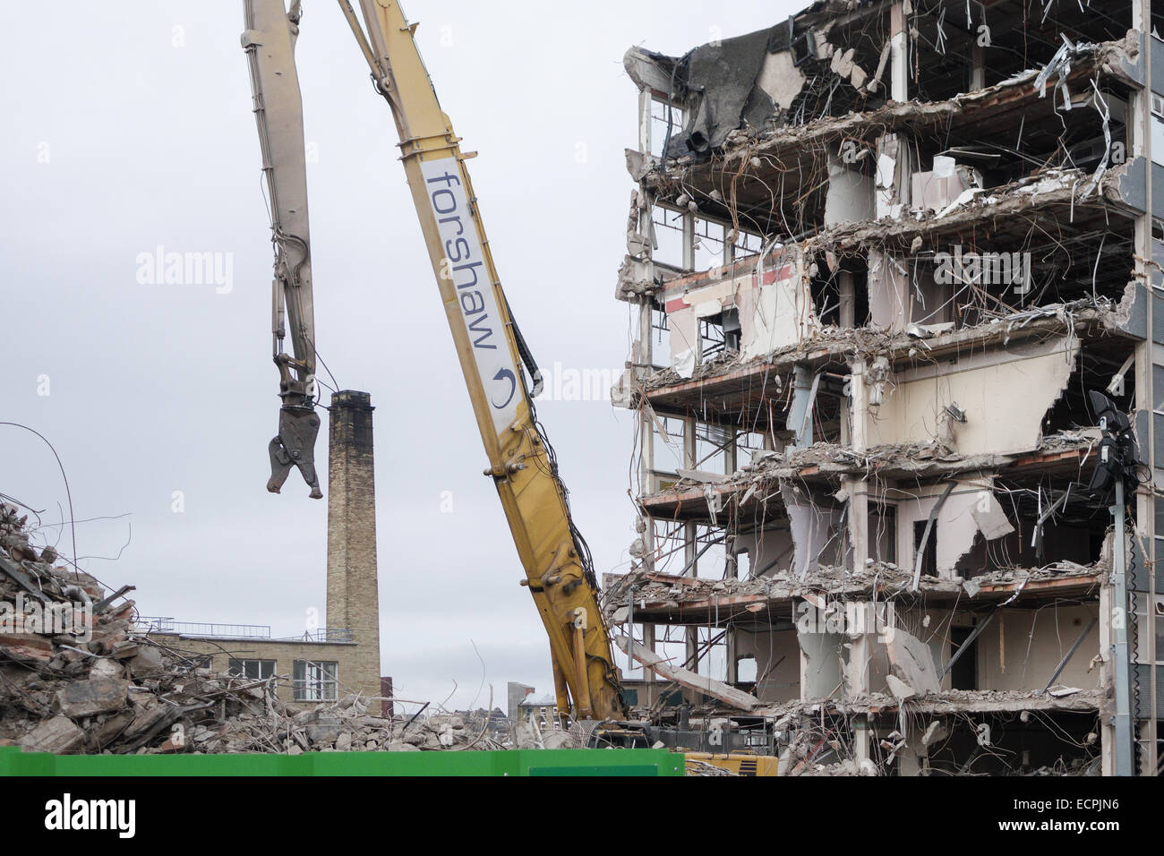 Bradford College, Westbrook Building being demolished to make way for green space. - Stock Image