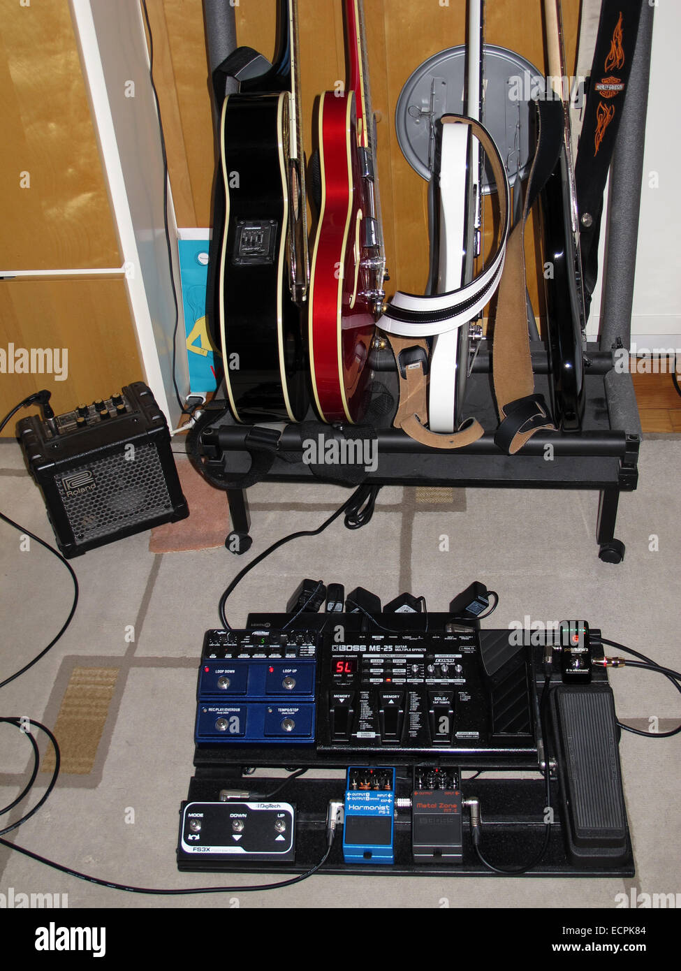 Guitar Pedal Boarddigitechbosspolytune 2dunlop Cry Baby Stock Wiring A Board