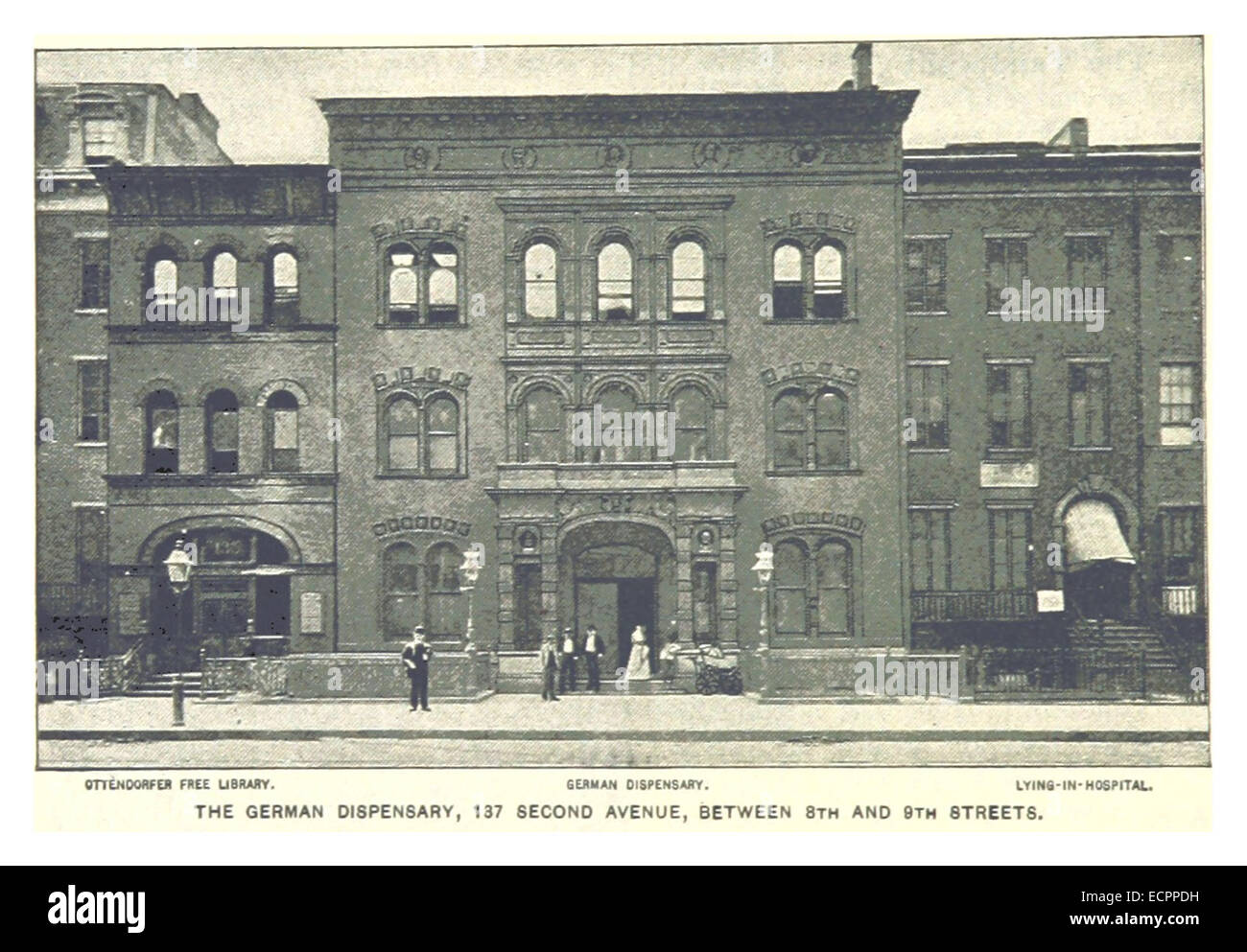 494 THE GERMAN DISPENSARY, 137 SECOND AVENUE, BETWEEN 8TH AND 9TH STREETS - Stock Image