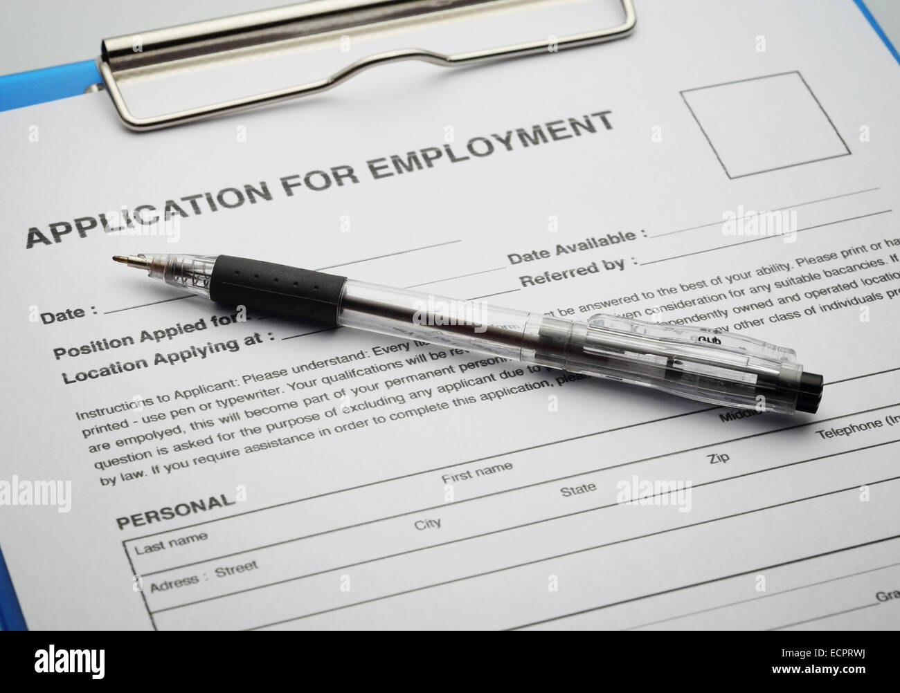 Job Application Form Stock Photos & Job Application Form Stock ...