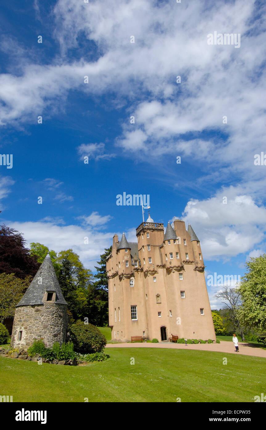 Craigievar Castle, Aberdeenshire, Scotland, United Kingdom, Europe - Stock Image