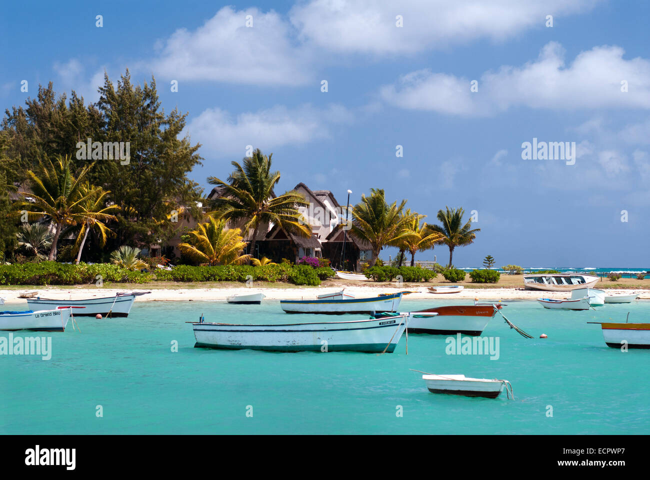 A Bay on the East Coast of Mauritius - Stock Image