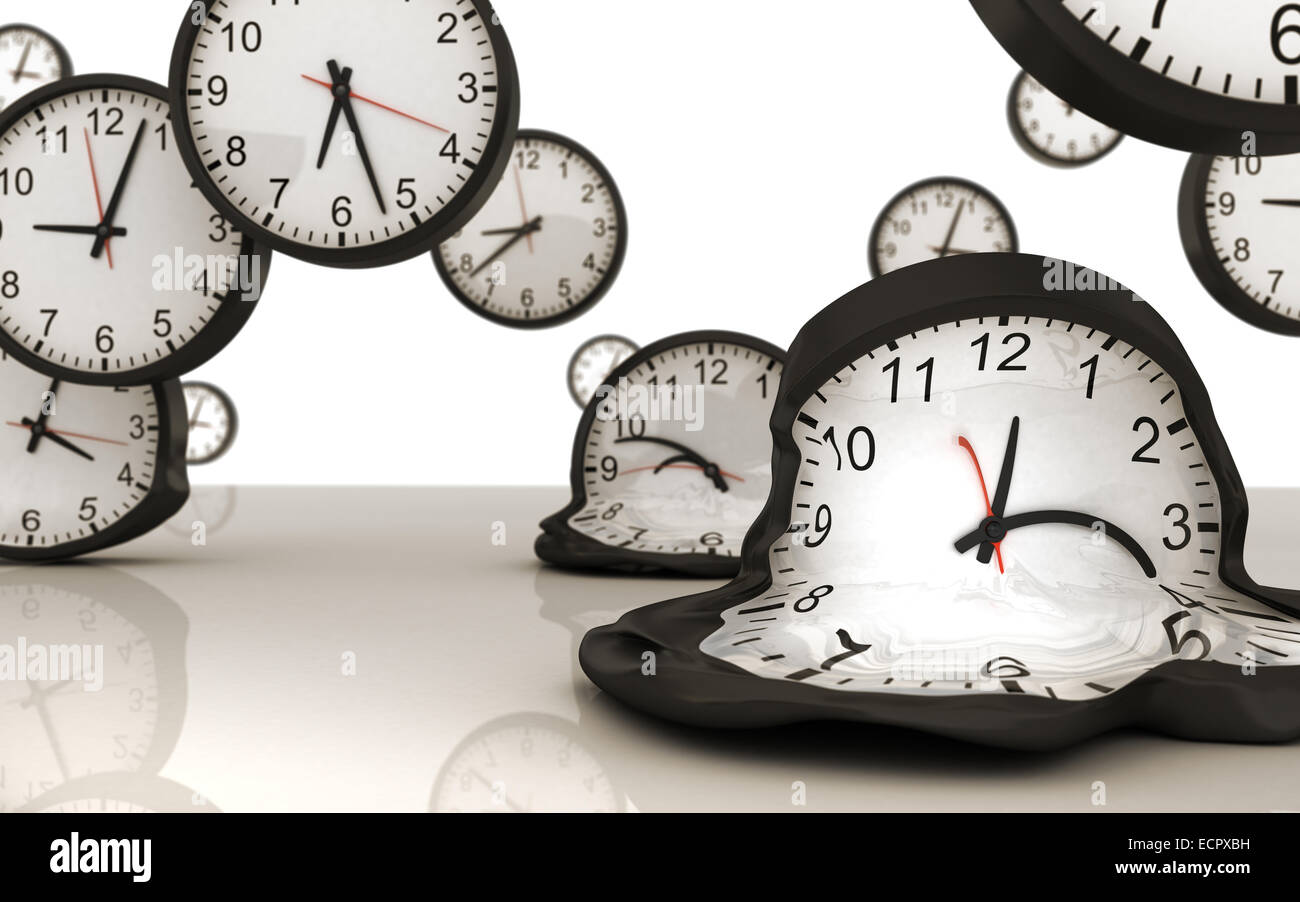 Clock in motion - gravity of time. - Stock Image