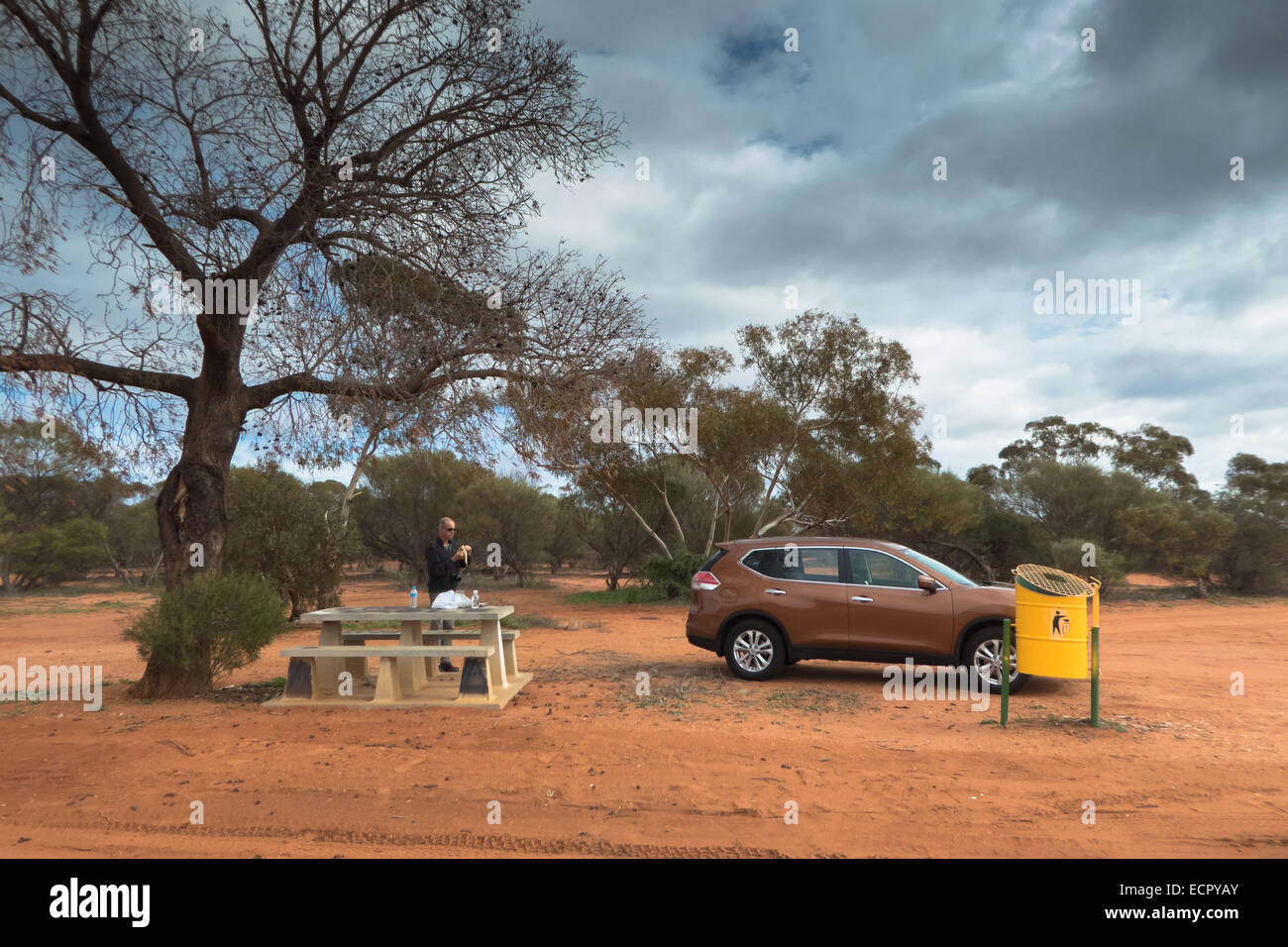 picknick area at North West Coastal Highway, photo: June 2014. - Stock Image