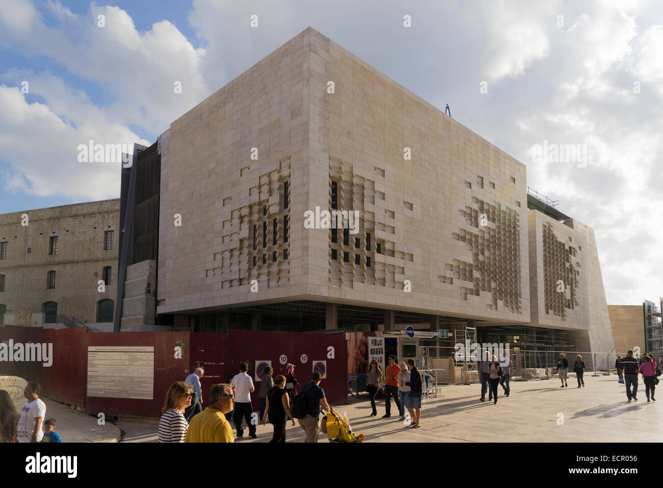 New Parliament Building planned by Renzo Piano in Valletta, Malta Stock Photo