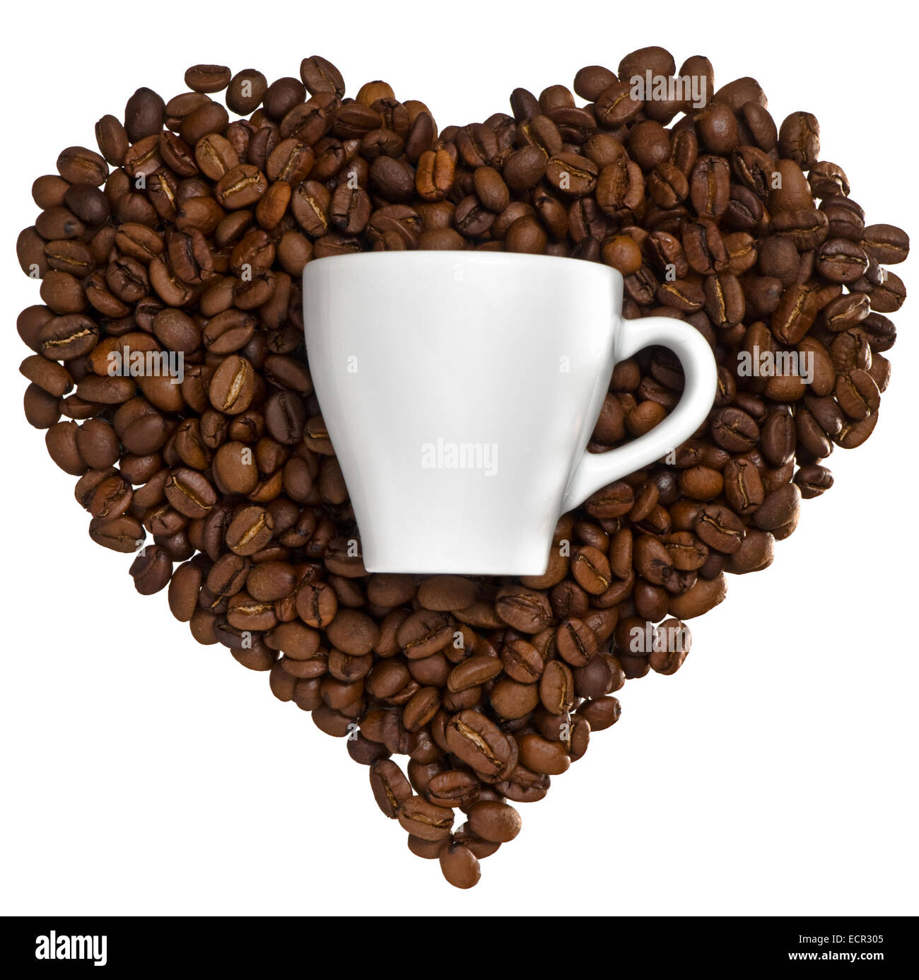 This is a concept about our love for coffee. - Stock Image