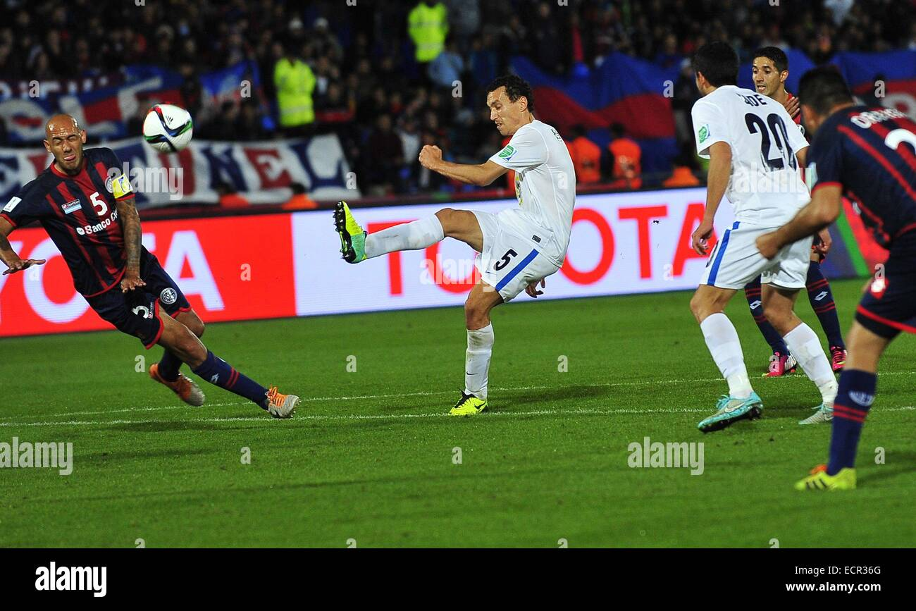 Dec. 17, 2014 - Marrakech, Morocco - Auckland City defender ANGEL BERLANGA (R) during the match 6 between San Lorenzo - Stock Image