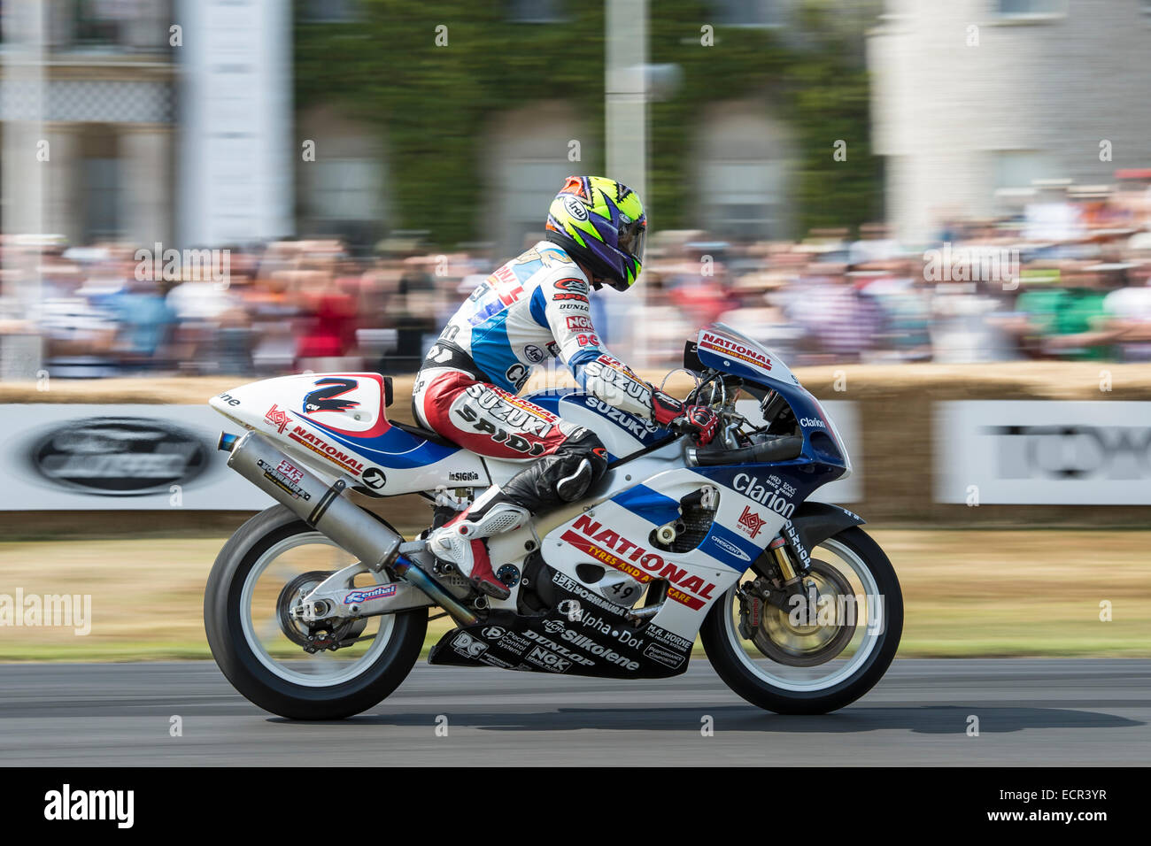 Motorbike At Goodwood Festival Of Speed   Stock Image
