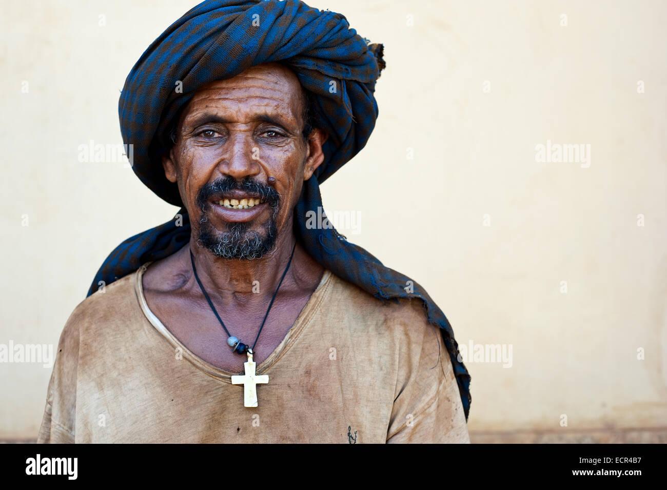 Christian man ( Ethiopia) - Stock Image