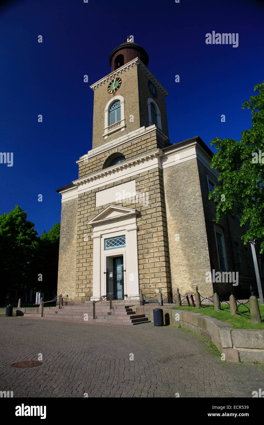 St. Mary's Church was built from 1829-1833 at the market square of Husum. It was designed by the Danish architect - Stock Image