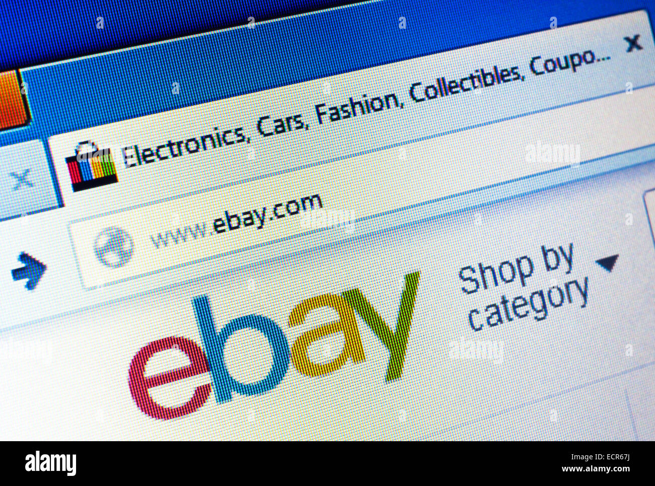 Ebay.com homepage on the computer screen. Editorial use only - Stock Image