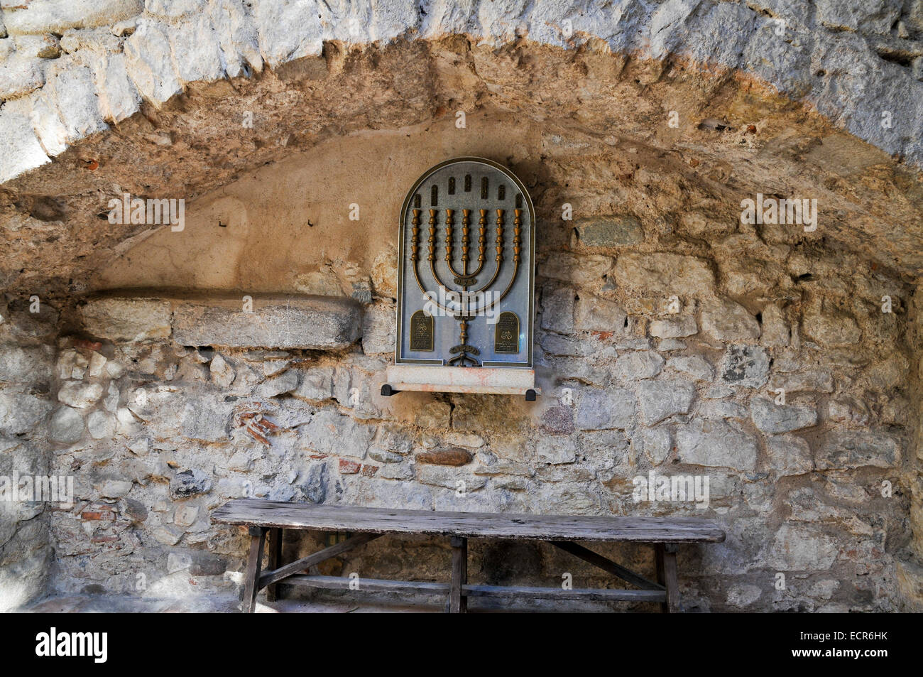 Girona, the Catalan Jewish Museum, Catalonia, Spain - Stock Image