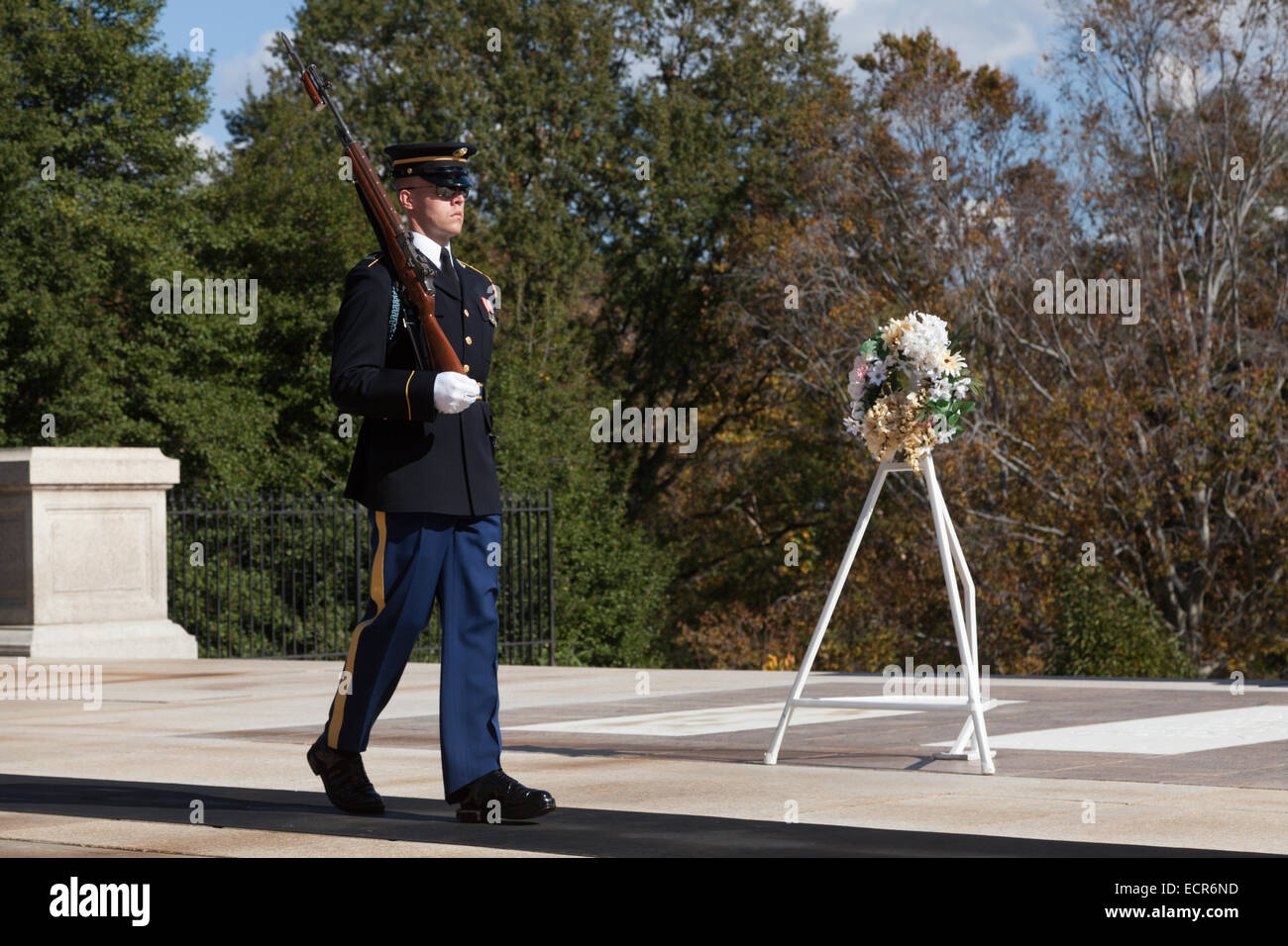 Tomb of the Unknown Soldier, Arlington National Cemetery, Virginia - Stock Image