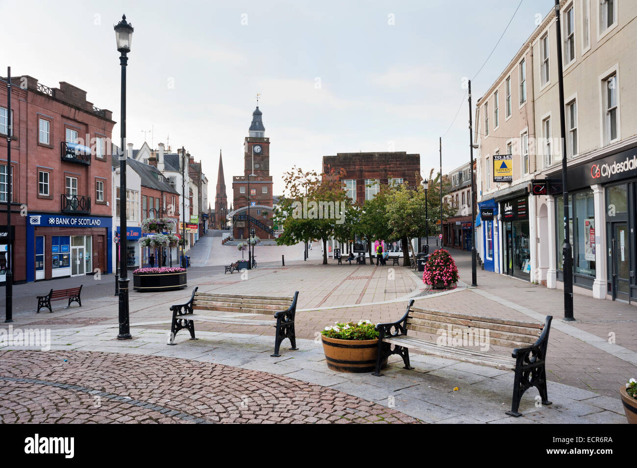 High Street, in the town centre, Dumfries, Scotland, UK Stock Photo