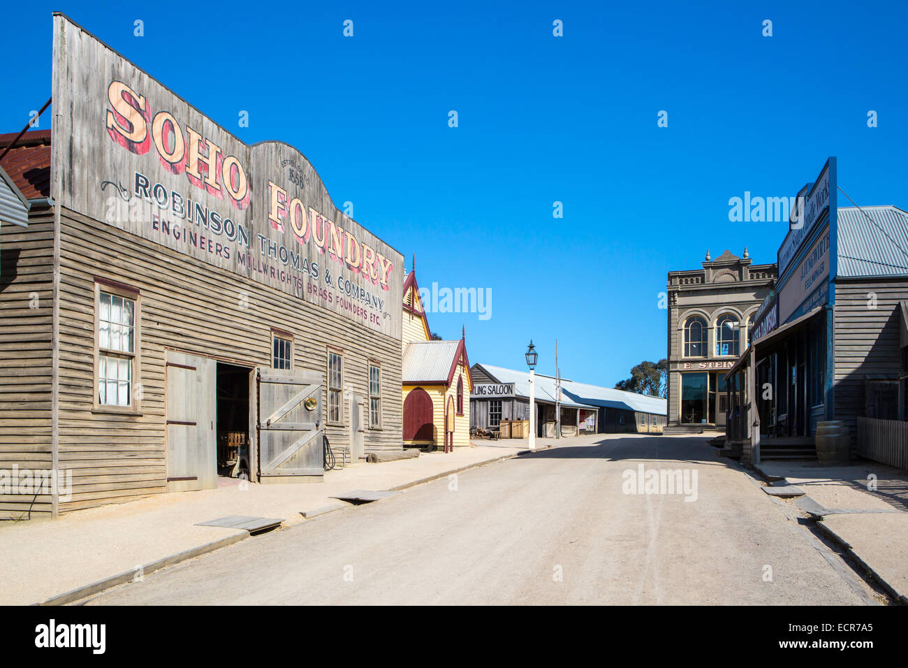 SOVEREIGN HILL, AUSTRALIA - OCTOBER 5: Sovereign Hill is an open air museum recreating the atmosphere of a gold - Stock Image
