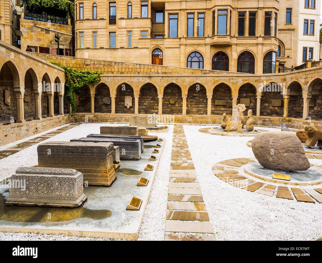 Ancient Market in Old City of Baku, Azerbaijan - Stock Image