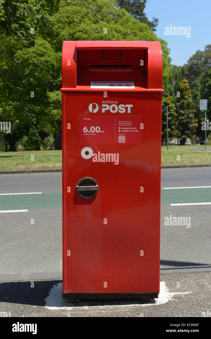 Australia post letter box stock photos australia post letter box red australia post box on a roadside stock image spiritdancerdesigns Image collections