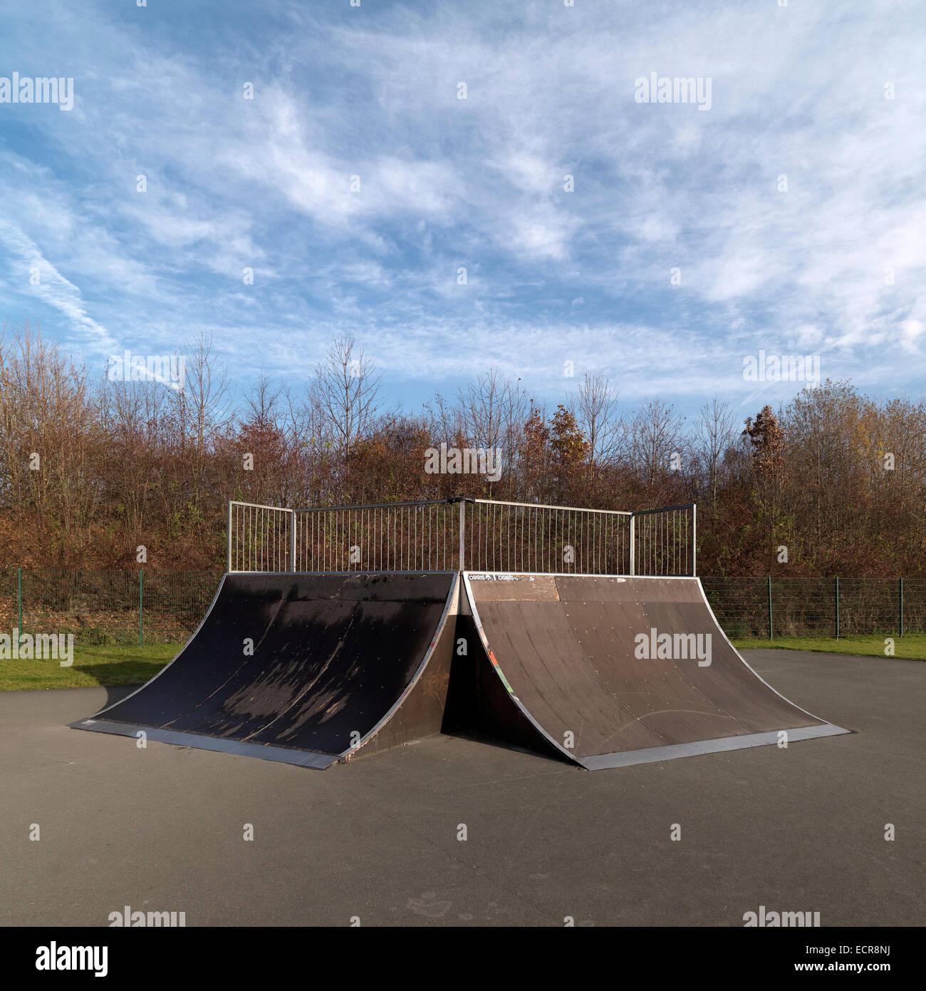 skateboard ramp - Stock Image
