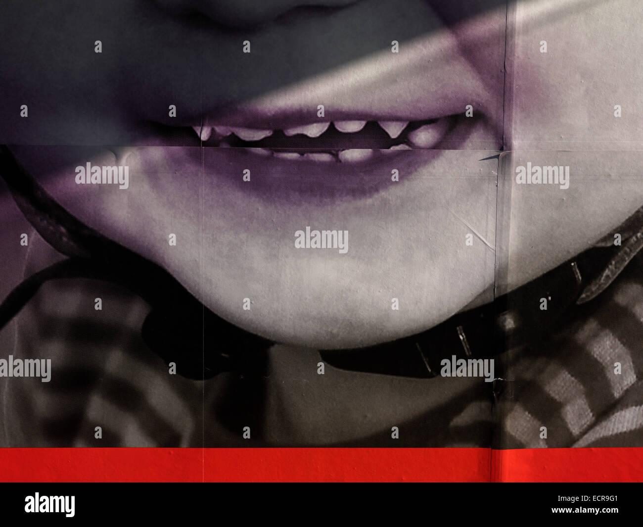 child vampire teeth Stock Photo