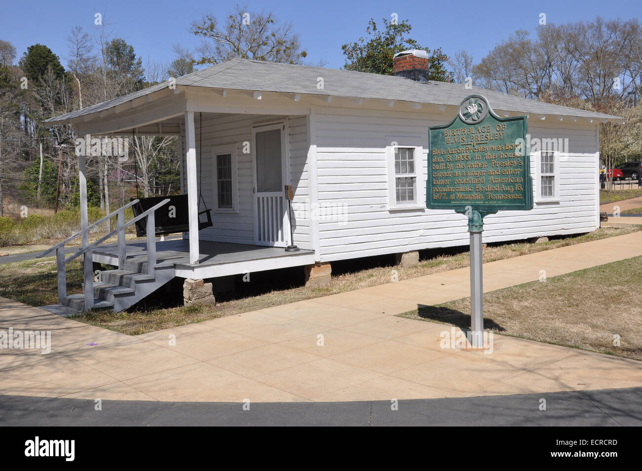 House where Elvis Presley was born in Tupelo, Mississippi - Stock Image