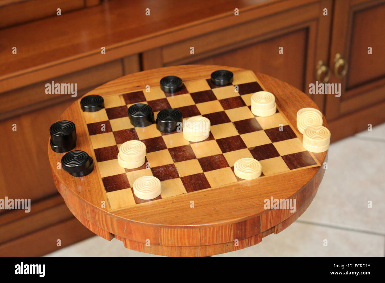 Draughts or Checkers - Stock Image