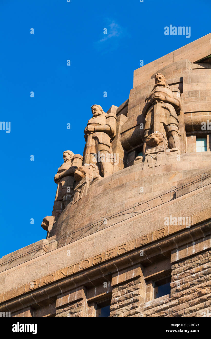 MONUMENT TO THE BATTLE OF THE NATIONS IN LEIPZIG, SAXONY, GERMANY - Stock Image