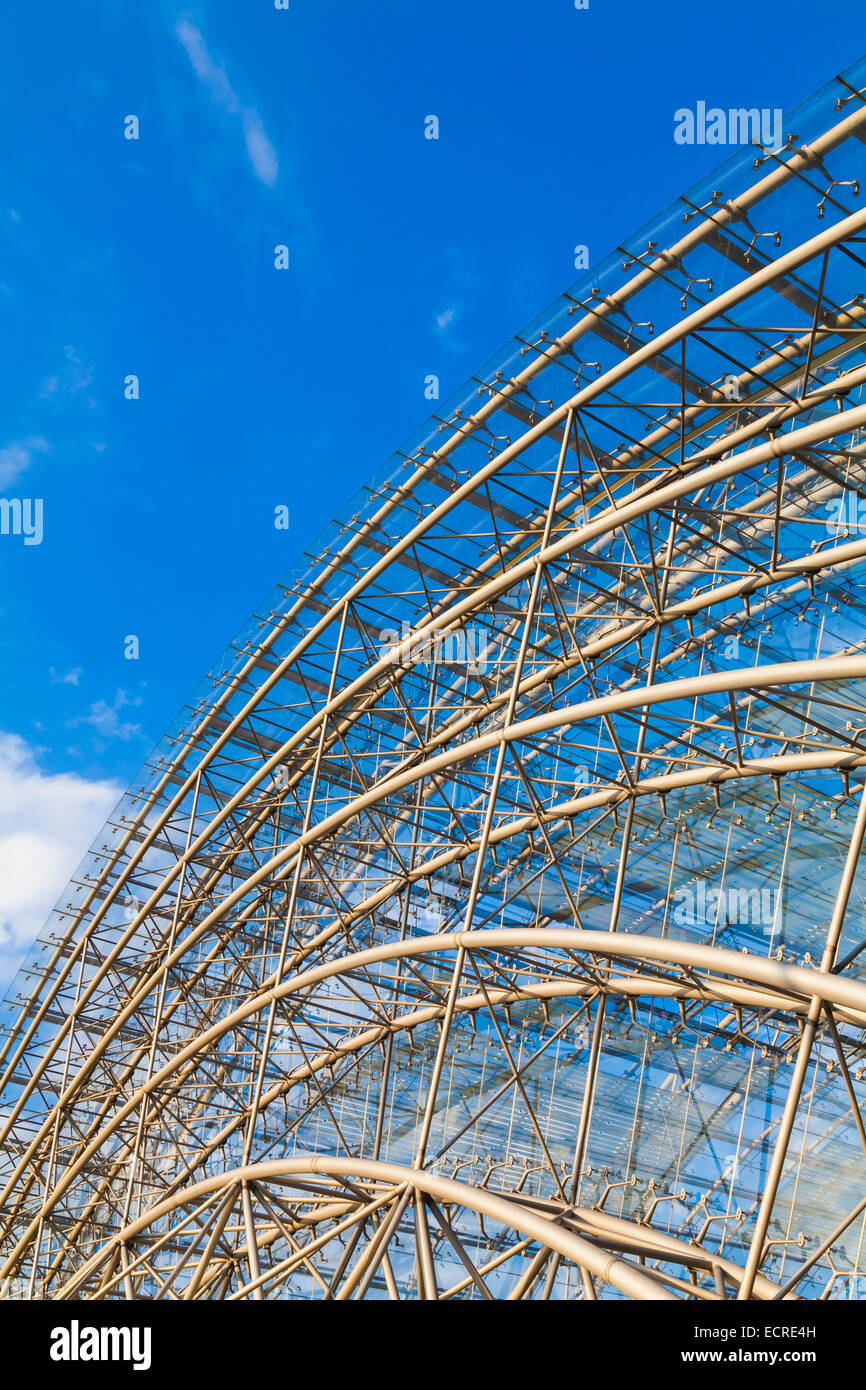 DETAIL, GLASS ROOF, THE LEIPZIG TRADE FAIR, LEIPZIG, SAXONY, GERMANY - Stock Image