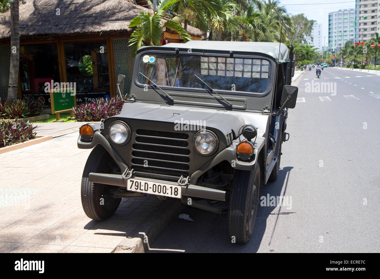 Vintage U S Military Jeep Model M 151 On The Street In Nha Trang Stock Photo Alamy