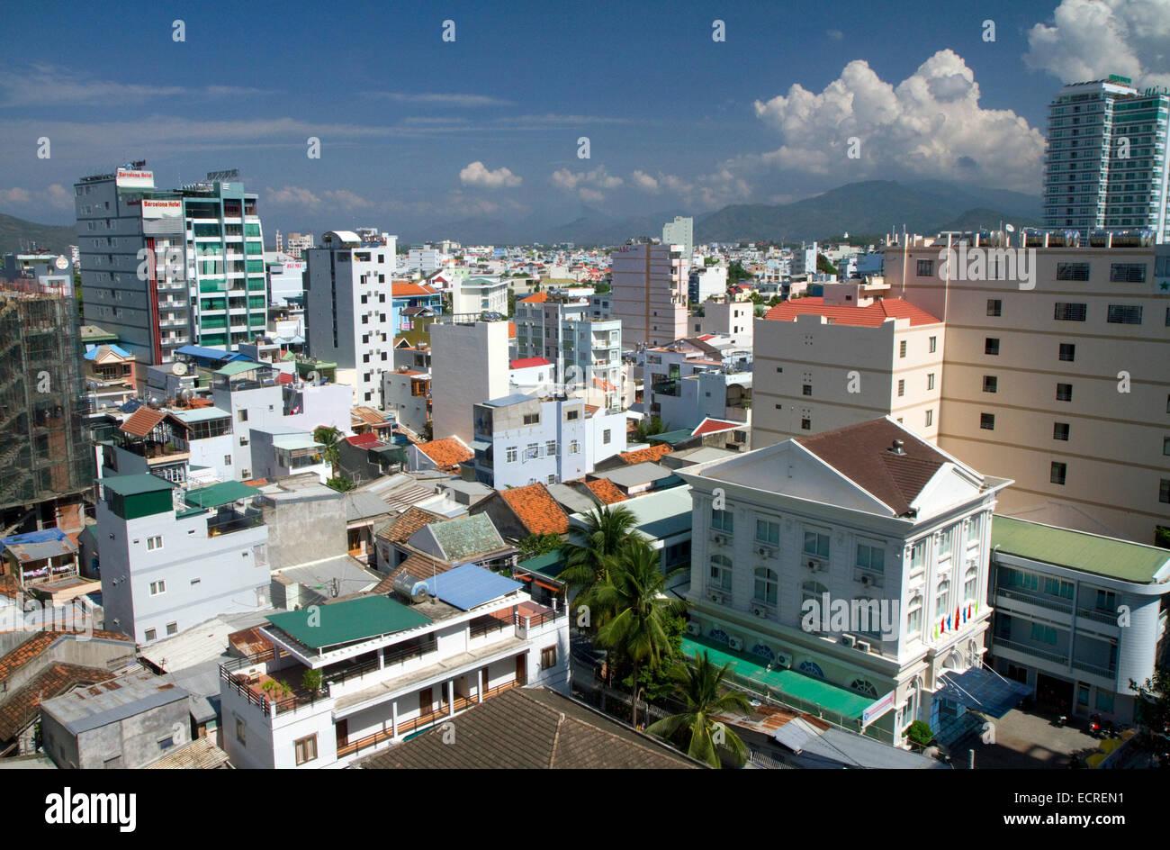 Cityscape of Nha Trang, Vietnam. Stock Photo