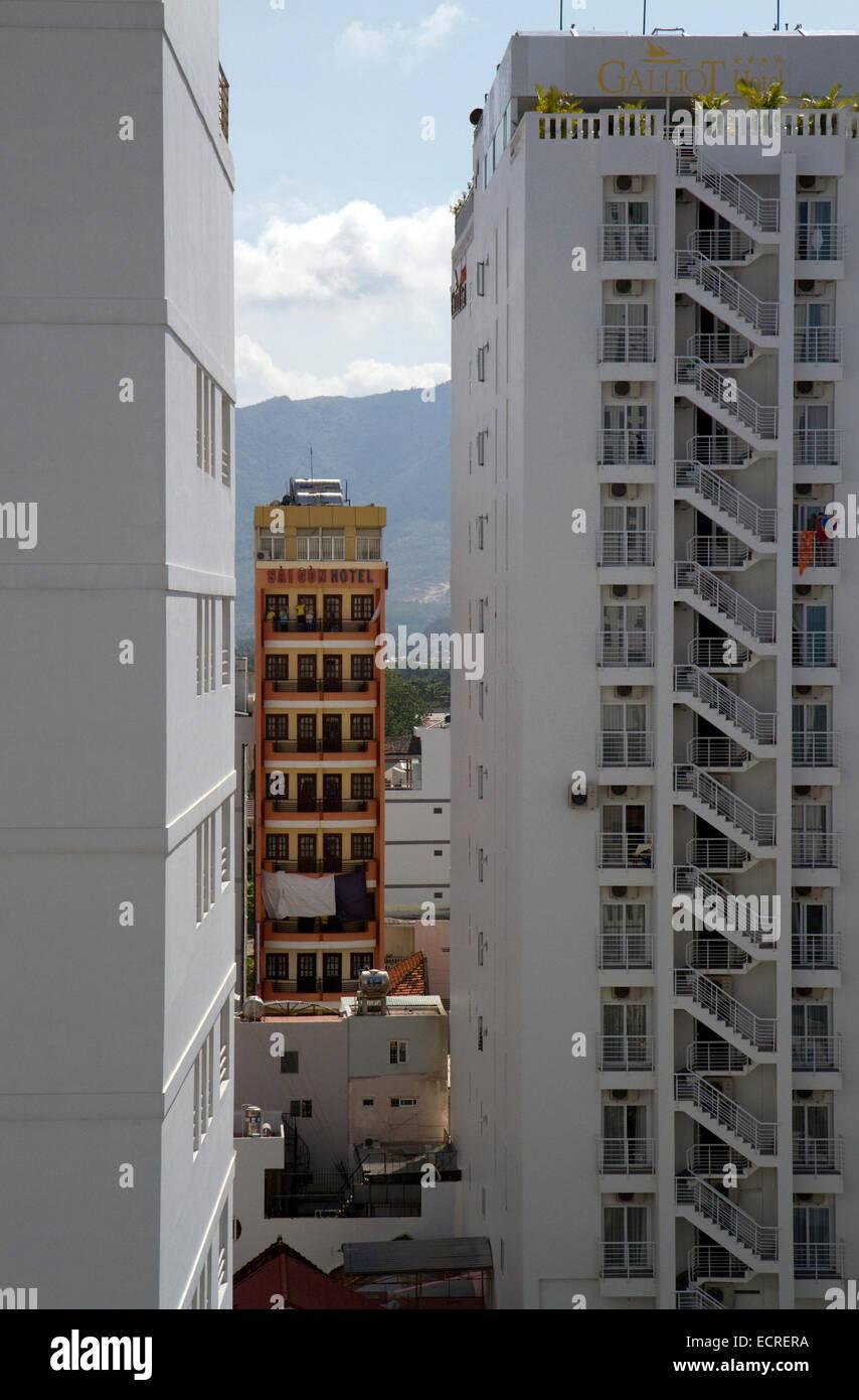 Hotels at Nha Trang, Vietnam. - Stock Image