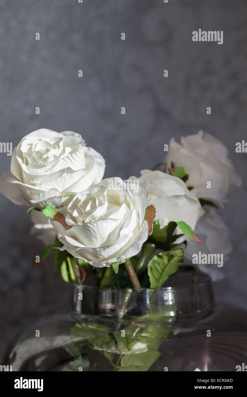 Artificial flowers - Stock Image