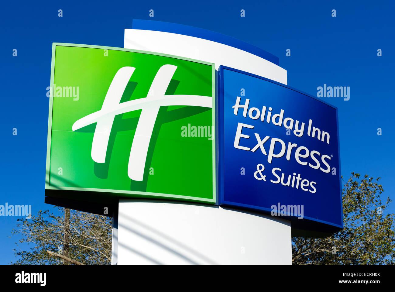 Holiday Inn Express sign, USA - Stock Image