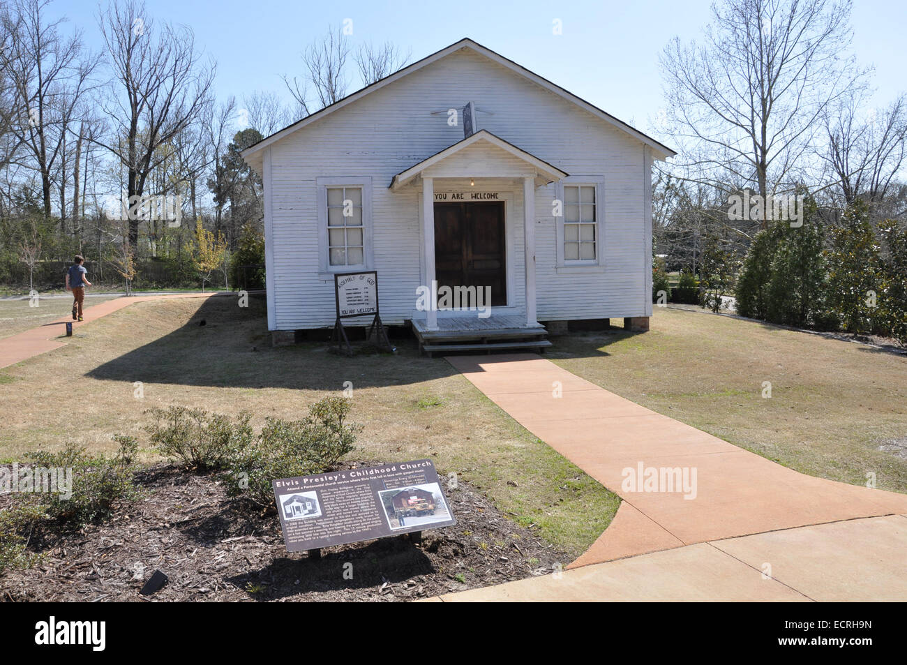 Childhood church of Elvis Presley at his birthplace in Tupelo, Mississippi - Stock Image