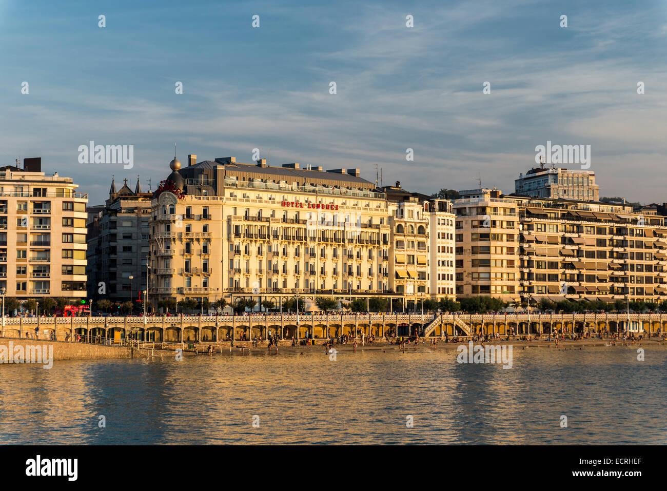 San Sebastian city. Guipuzkoa, Basque Country, Spain - Stock Image
